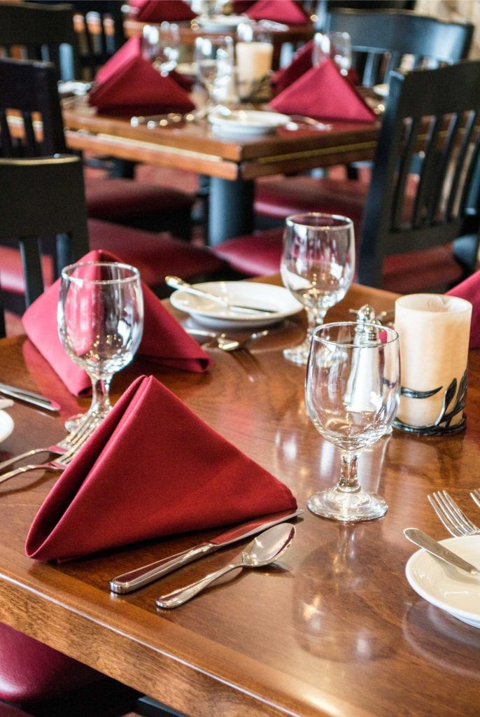 glass and decor for a fine dining experience